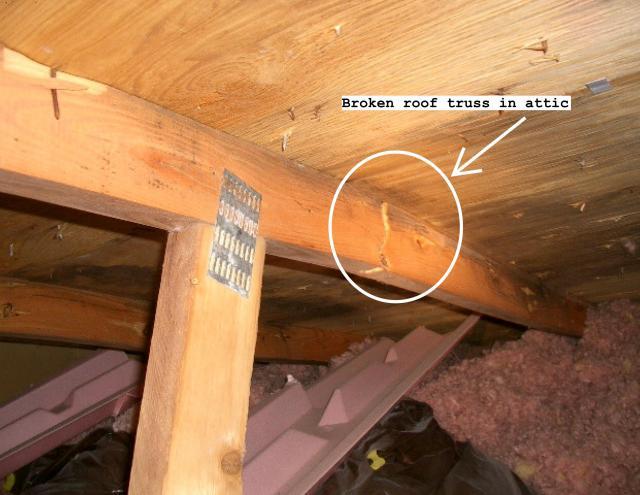 Broken Roof Truss Amp Illustration Of A Prefabricated Metal