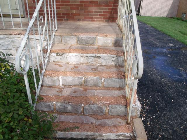 Front stairs deterioration